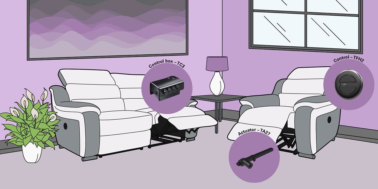 TA27: Furniture trends involving electric actuator solution-TiMOTION