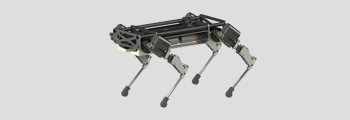 quadruped robot with electric actuators