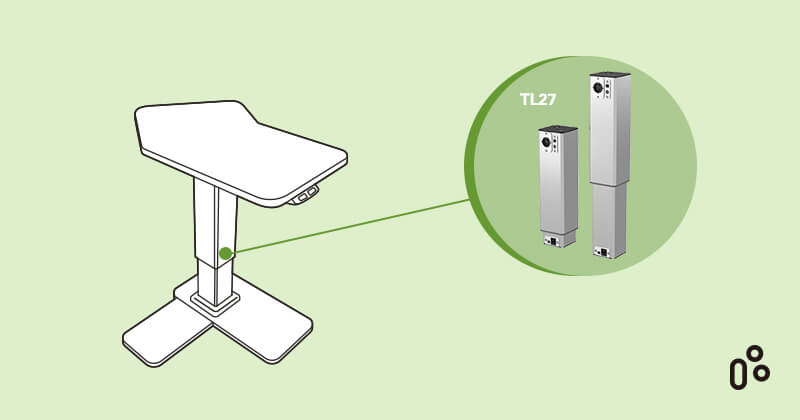 TiMOTION TL27 is An Electric Lifting Column to Easily Adjust Medical Devices