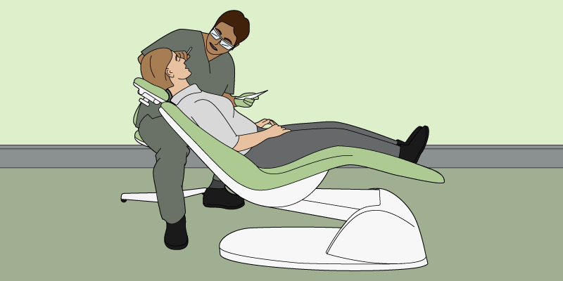Ergonomic dental chair for patient comfort and safety